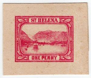 (I.B) St Helena Postal : Stationery Die 1d