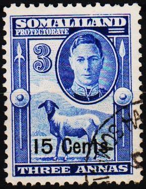 Somaliland Protectorate.1951 15c on 3a  S.G.127 Fine Used