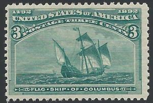Scott 232, Original gum, 1893 Columbian Exposition Issue