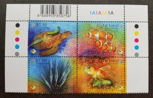 Singapore Shores And Reefs 2007 Marine Fish Turtles Coral Ocean (stamp plate MNH