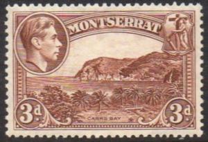 Montserrat 1938 3d brown (P 13) MH