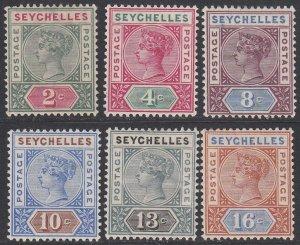 Seychelles 1//12, SG9-14 MVLH Die II CV $103.00