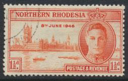 Northern Rhodesia  SG 46a SC# 46a  Used / FU   perf 13½  see detail / scan