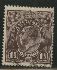 Australia Scott 24b used blk brn KGV 1918 stamp