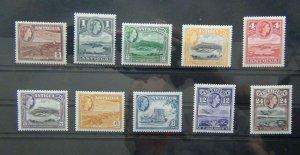 Antigua 1953 - 1962 values to 24c MM