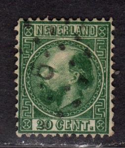 $Netherlands Sc#10 used, VF, Cv. $24