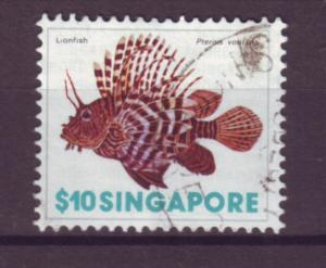 J21400 Jlstamps 1977 singapore hv of set used #275 lionfish