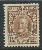 Southern Rhodesia SG 16cd Perf 11½  Mint light hinge