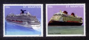 St. Martin Sc# 43-44 MNH Cruise Ships (Part 3)
