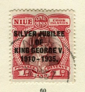 NIUE; 1935 early Jubilee issue used 1d. value