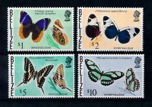 [71168] Belize 1974 Insects Butterflies 4 Highest Values From Set MNH