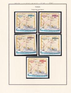 Tonga # 287-291, C107-111, CO55-57, Tonga Merchant  Marine, NH, 1/2 Cat.