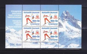 Greenland B19a Set MNH Sports, Olympics, Skiing