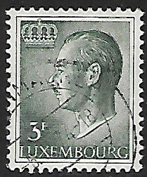 Luxembourg # 424 - Grand Duke Jean - 3F - used...(KlGr)