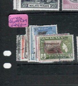 MALAYA  PENANG  (PP1606B) QEII  SG 44-6,  49-50, 52-9    VFU