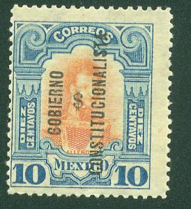 MEXICO 428 10c With $ Revolutionary overprint MINT, NH. VF.