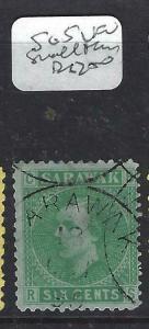 SARAWAK  (P2704B) BROOKE  6C  SG5   SMALL THIN    CDS FU