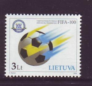 Lithuania Sc770 2004 FIFA Football stamp NH