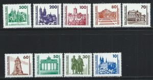 GERMANY - DDR SC# 2832-40 F-VF MNH 1990
