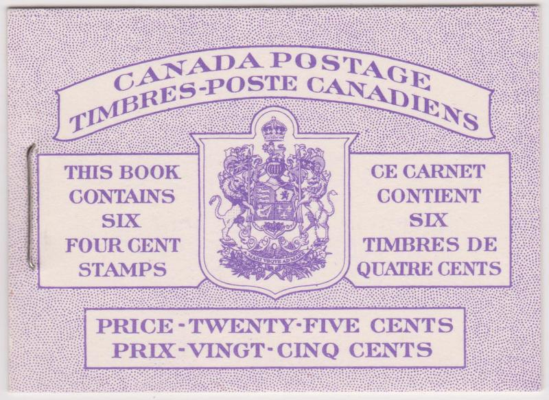 Canada USC #BK50 1955 4c Wilding Pane of Six in Complete Bilingual