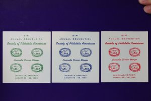 SPA Louisville KY Carrier Local post stamp Philatelic reprint Label ad 1955 set3