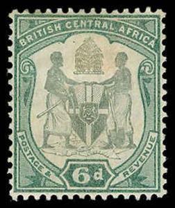 BRITISH CENTRAL AFRICA 48  Mint (ID # 71077)