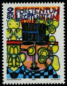 Liechtenstein 1004 MNH Art, Black hatter