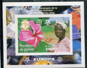 Guinea 2006 EUROPA CEPT 50th. Anniversary SPACE s/s Imperforated Mint (NH)