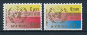 [NA813] Netherlands Antilles Antillen 1985 40 Year United Nations MNH # 813-14