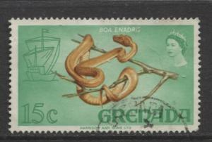 Grenada -Scott 302 -  Flowers,Fish, Reptile Issue -1968 - FU -Single 15c Stamp