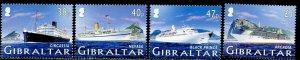 GIBRALTAR Sc#1021-1024 2005 Cruise Ships Complete Set OG Mint NH