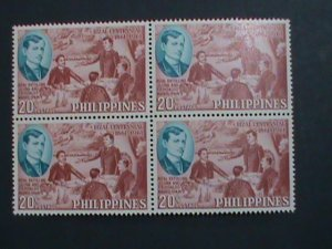 PHILIPPINES-1961 SC# 839 CENTENARY BIRTH OF JOSE RIZAL MNH BLOCK OF 4 STAMPS