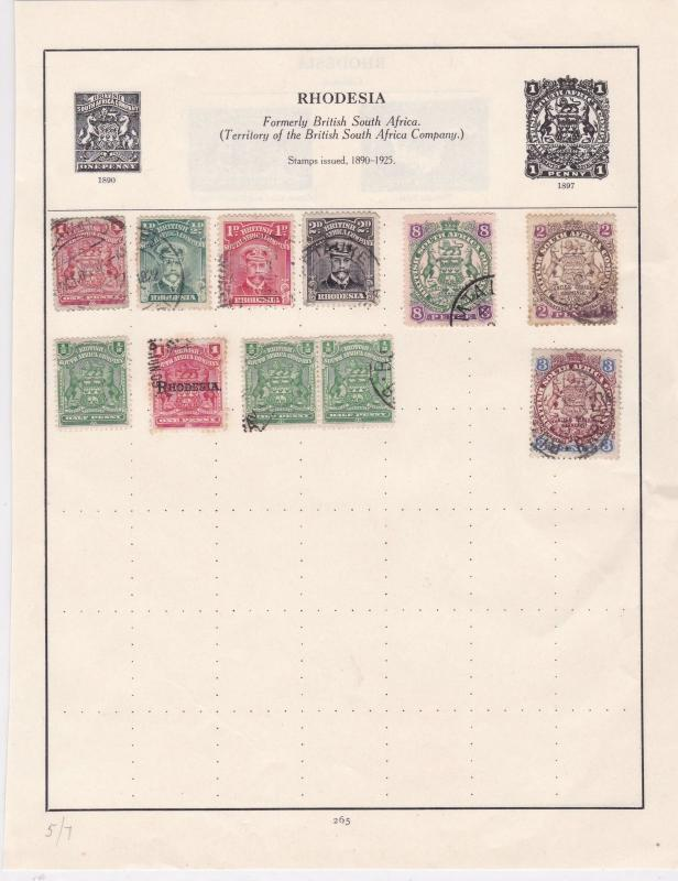 Rhodesia Stamps Ref 14529