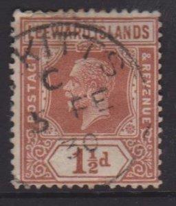 Leeward Islands Sc#66 Used Postmark St Kitts