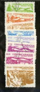 NICARAGUA 1298-1305 USED SCV $3.15 BIN $1.10 FOOD CROPS