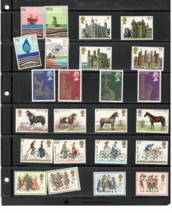 GREAT BRITAIN COLLECTION ON STOCK SHEET, ALL MINT