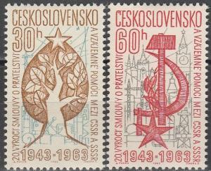 Czechoslovakia #1208-9  MNH F-VF  (V2566)