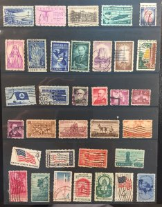 USA LOT: Bunch of stamps used - Commemoratives and Miscellaneous