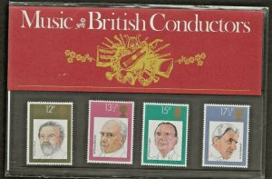 1980 MUSIC-BRITISH CONDUCTORS PRESENTATION PACK 120