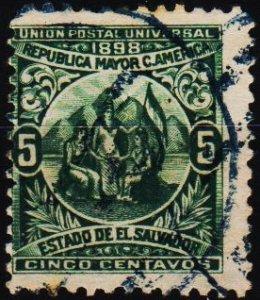 El Salvador. 1898 5c S.G.279 Fine Used