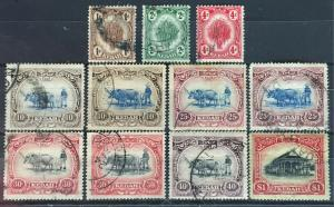 Malaya Kedah 1921-32 Definitives 11V Varieties MSCA Used see description M2297