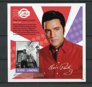 Liberia 2015 MNH Elvis Presley His Life Stamps Las Vegas Celebrities 1v S/S II