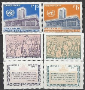 Chile 417-21  MNH  United Nations UNCTAD III  1972