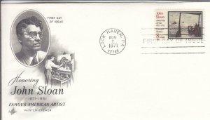 1971, Honoring John Sloan, Artcraft, FDC (D14789)