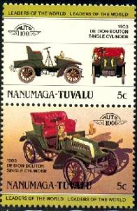 Automobile, 1903 De Dion-Bouton, Tuvalu Nanumaga SC#1 MNH