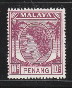Malaya Penang 1954 Sc 35 10c MNH