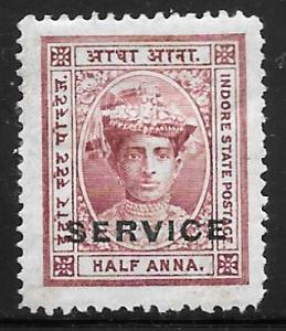 India Indore O1: 1/2a Maharaja Tukoji Holkar III, unused, NG, F-VF