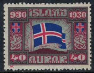Iceland #161*  CV $7.50