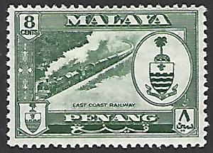 Malaya Penang #60 Mint Hinged Single Stamp