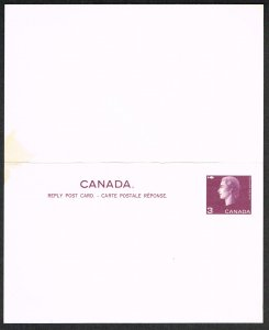 Canada Reply Unused Postcard Unitrade UY97
